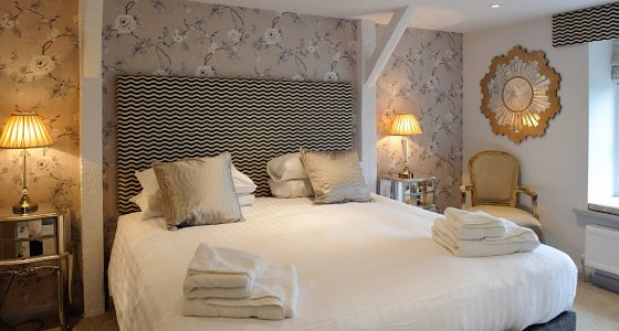 Stylish individually designed bedrooms.